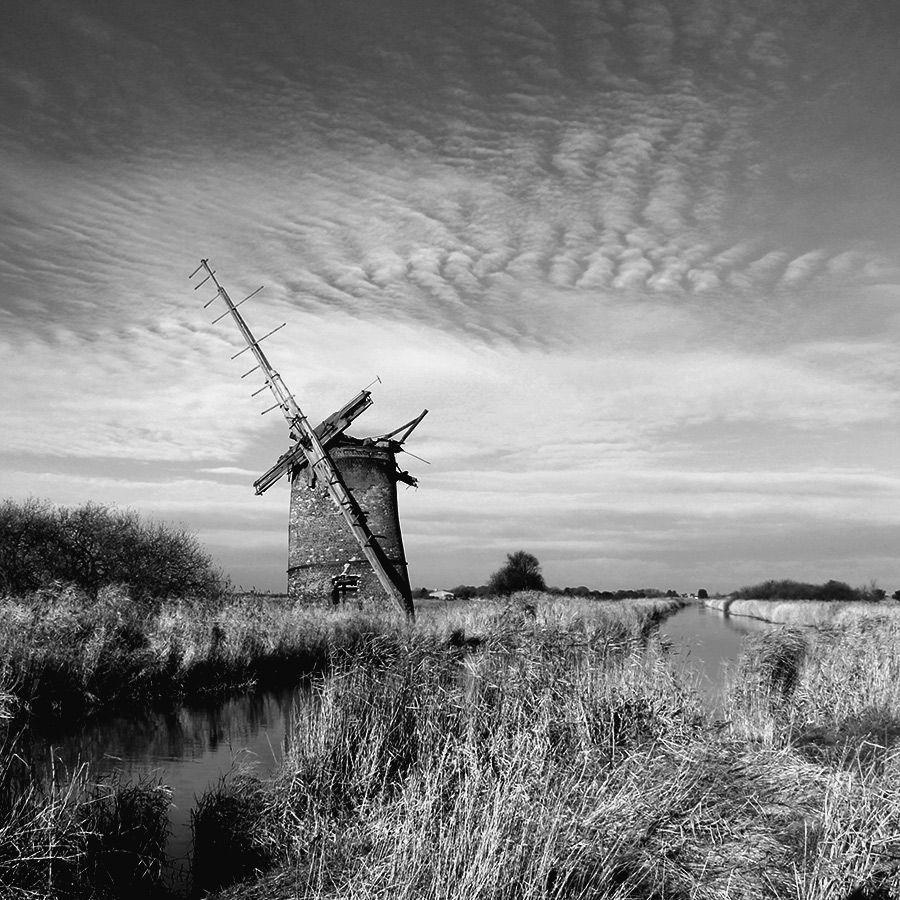Ruined mill, Horsey Mere, Norfolk