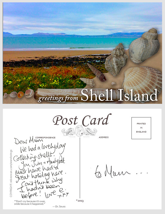 postcard from Shell Island